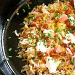 Loaded Baked Potato Skillet Hashbrowns & winner