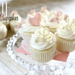 White Cupcakes for a {virtual} Baby Shower