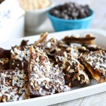 Salted Saltine Toffee with Coconut