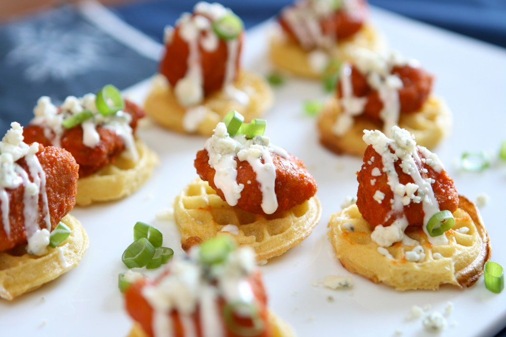 Buffalo Chicken Eggo Bites