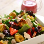 Summer Salad with Eggo Croutons & Giveaway