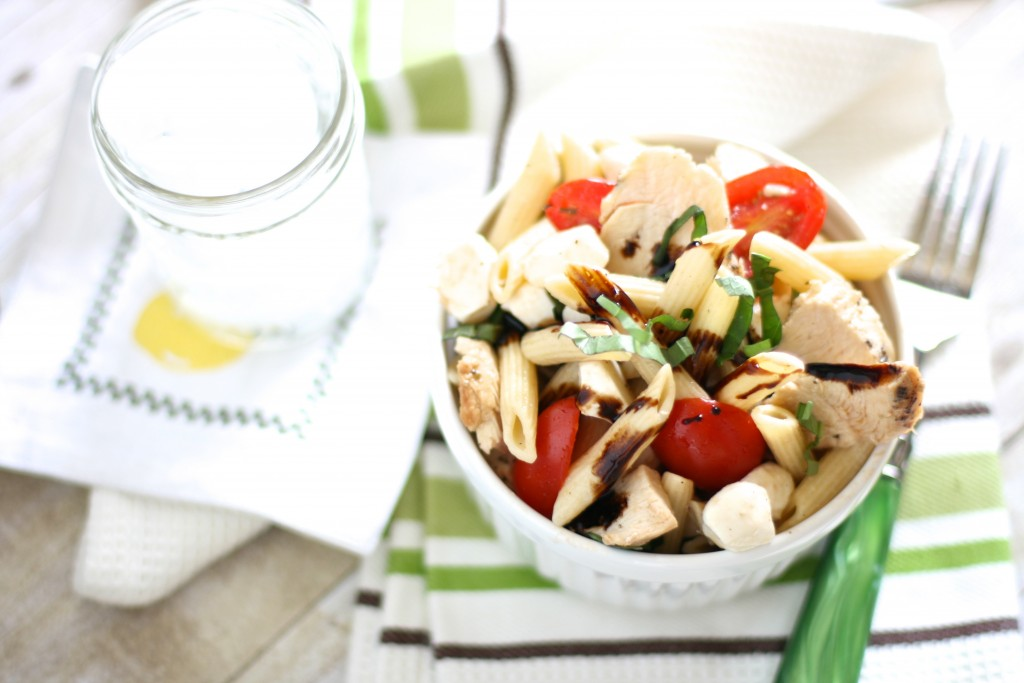chicken caprese pasta salad