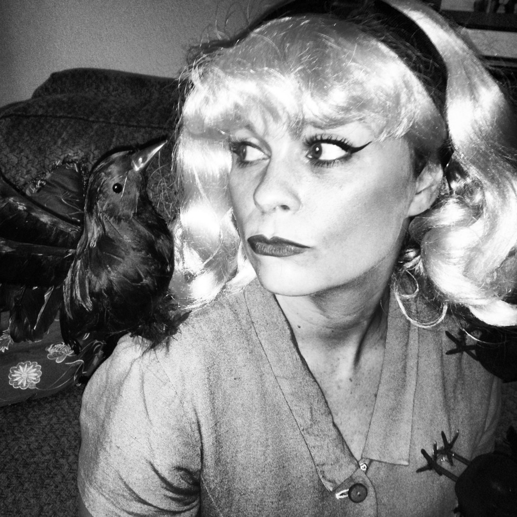 "Do-It-Yourself Halloween Costume..Tippi Hedren from Alfred Hitchcock's ""The Birds""."