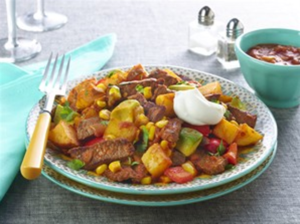 Simple Beef and Potato Skillet Ole'