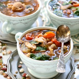 Cajun Roasted chicken & Vegetable 15 bean soup