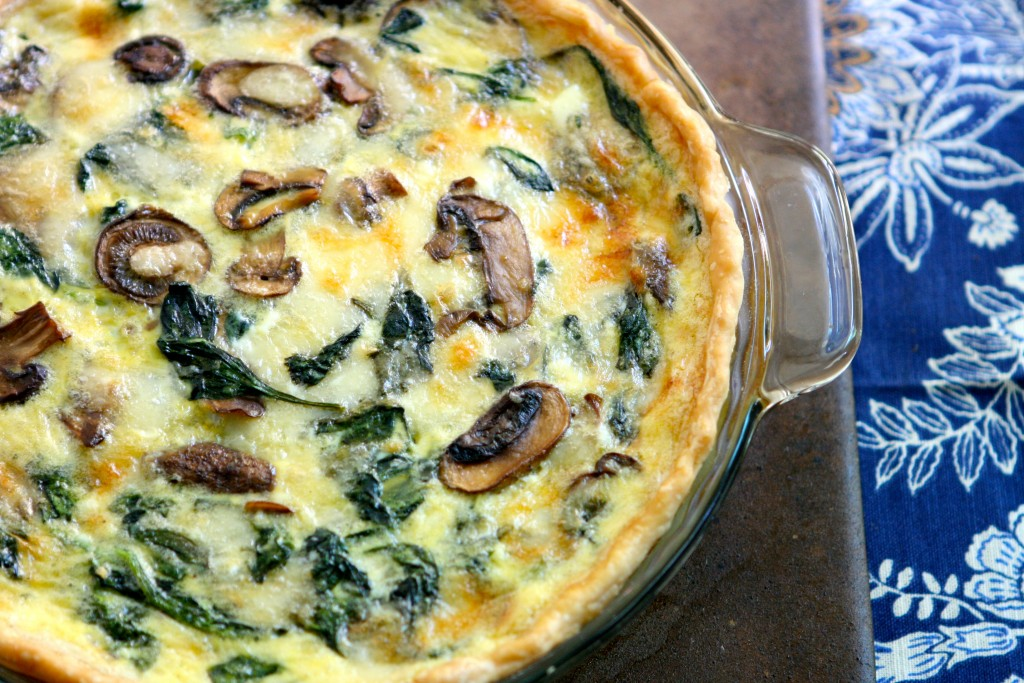 Cheesy Spinach And Mushroom Quiche The Hungry Housewife