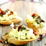 Italian Egg Salad Crostini