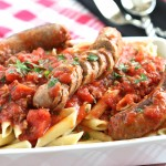Slow Cooker Hot Italian Sausage Red Sauce