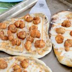 Individual Buffalo Shrimp Grilled Pizzas