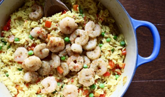 Yellow Rice and Shrimp