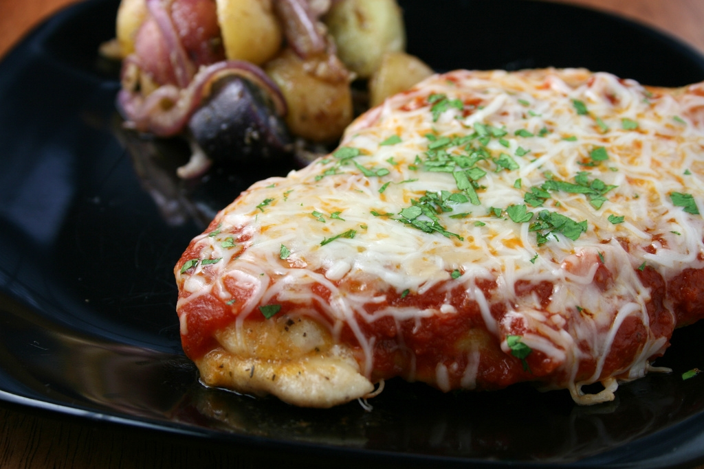 Chicken Parmesan-Lightened Up