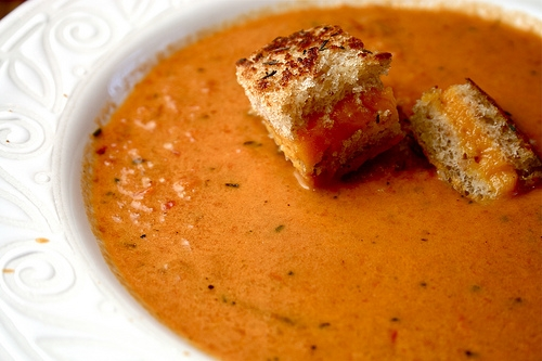 lot easy tomato soup grilled grilled chees croutons creamy tomato soup ...