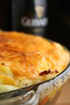 Shepherds pie with Guinness