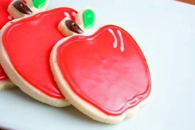 sugar cookies apple shaped