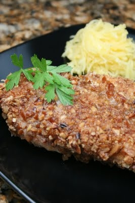 pecan pretzel crusted chicken chicken